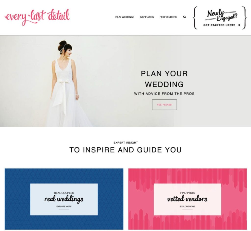 WordPress wedding blog developed by John Chandler